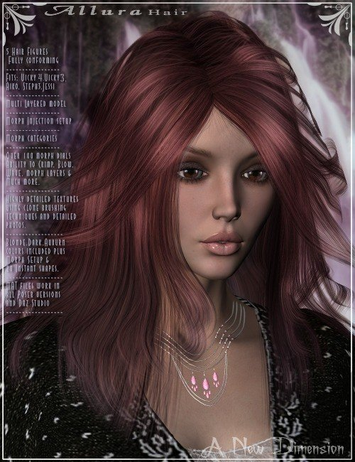 Allura-Hair by: Magix 101, 3D Models by Daz 3D