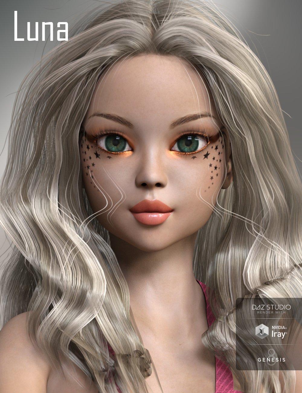 Luna for Genesis 8 Female by: AnainAkasha, 3D Models by Daz 3D