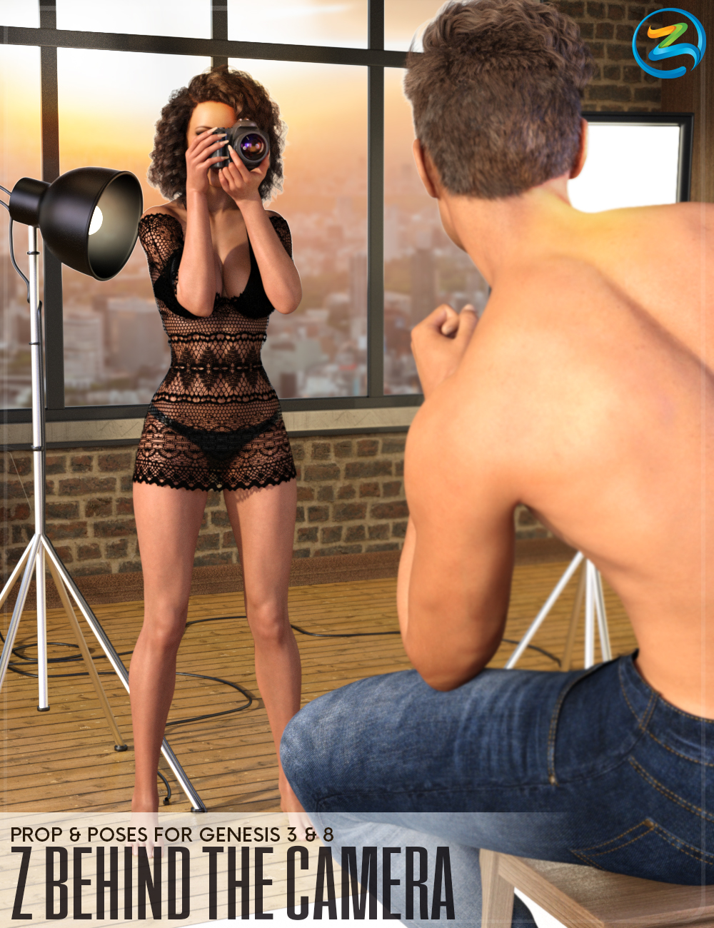Z Behind The Camera - Prop & Poses for Genesis 3 and 8 by: Zeddicuss, 3D Models by Daz 3D