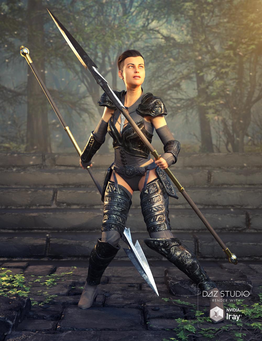 Spear Set by: Valandar, 3D Models by Daz 3D
