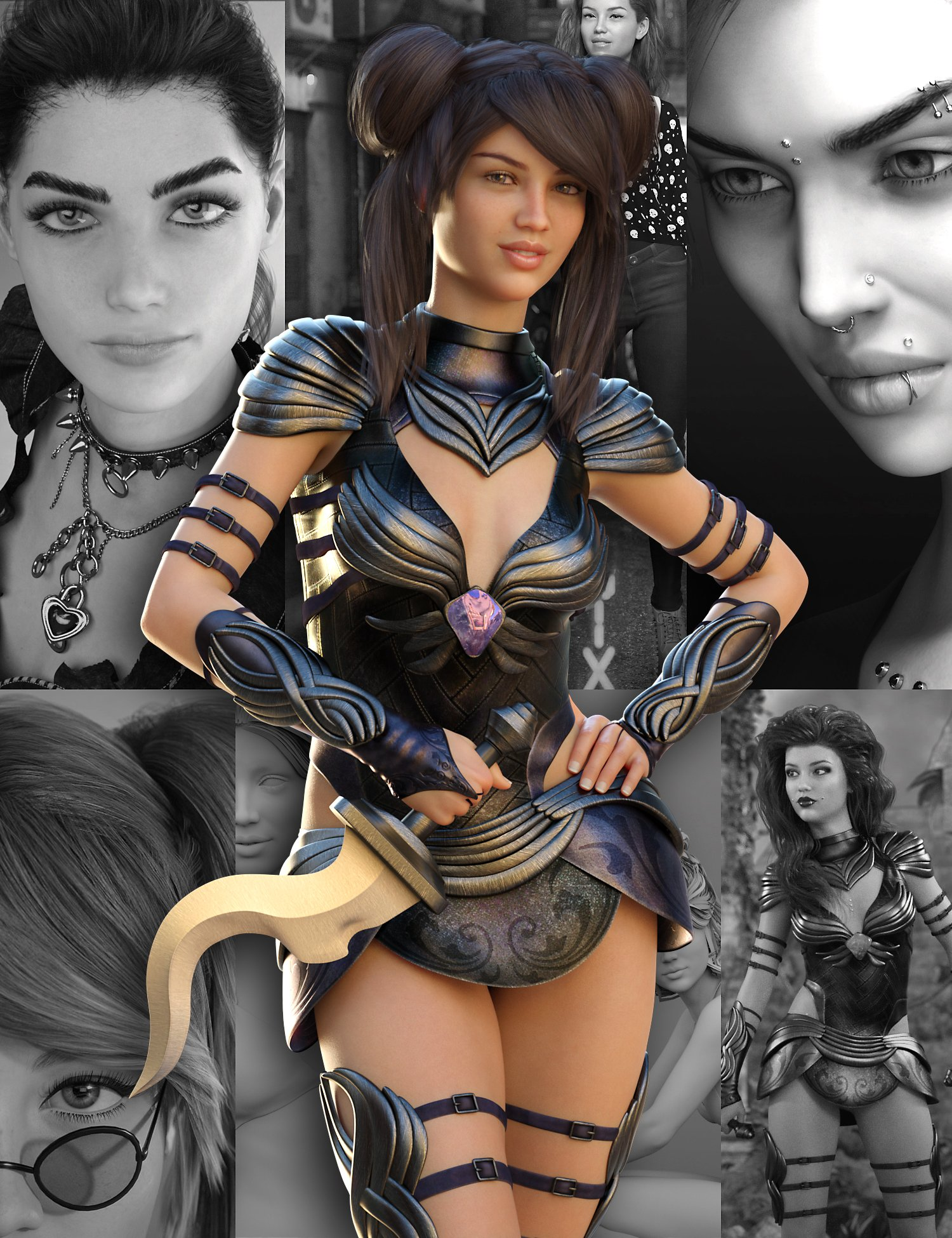 Charlotte 8 Pro Bundle by: , 3D Models by Daz 3D