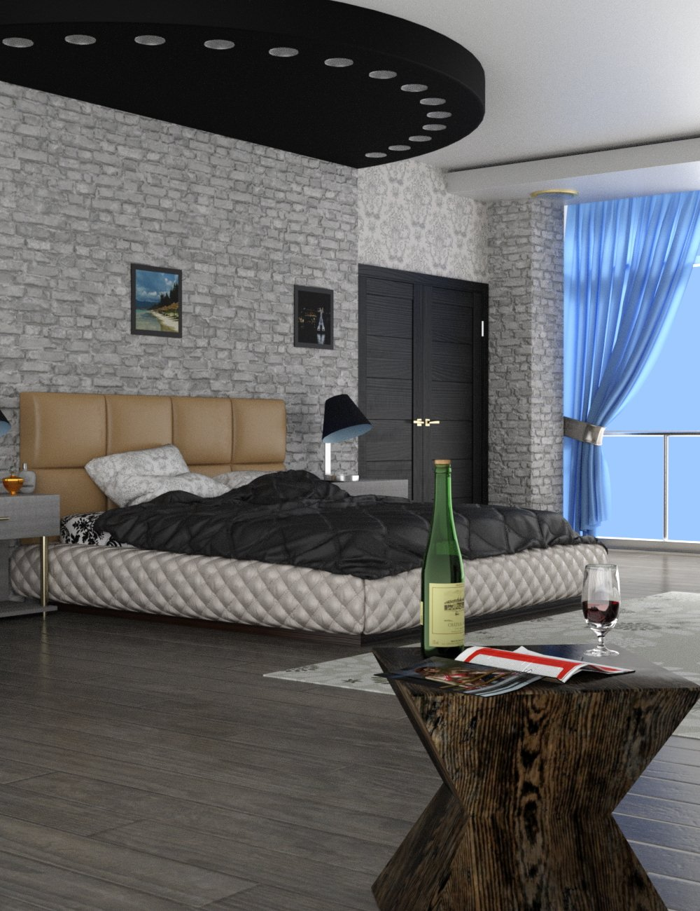 Slide3D - The Room by: Slide3D, 3D Models by Daz 3D