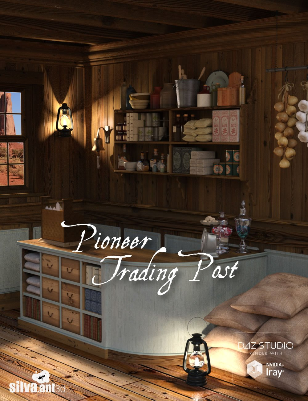 Pioneer Trading Post by: SilvaAnt3d, 3D Models by Daz 3D
