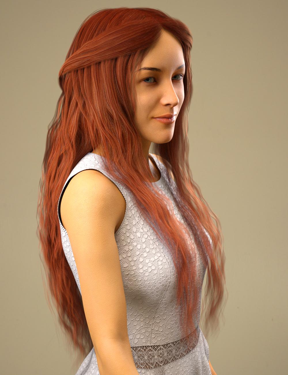Nerea Hair for Genesis 8 Female(s) by: Toyen, 3D Models by Daz 3D