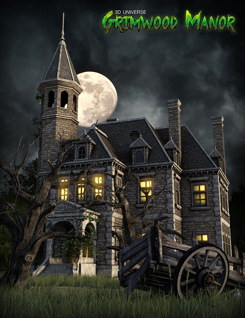 Grimwood Manor by: 3D Universe, 3D Models by Daz 3D