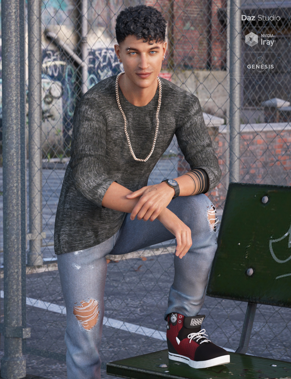 Street Style Outfit for Genesis 8 Male(s) by: Barbara BrundonMoonscape GraphicsSade, 3D Models by Daz 3D