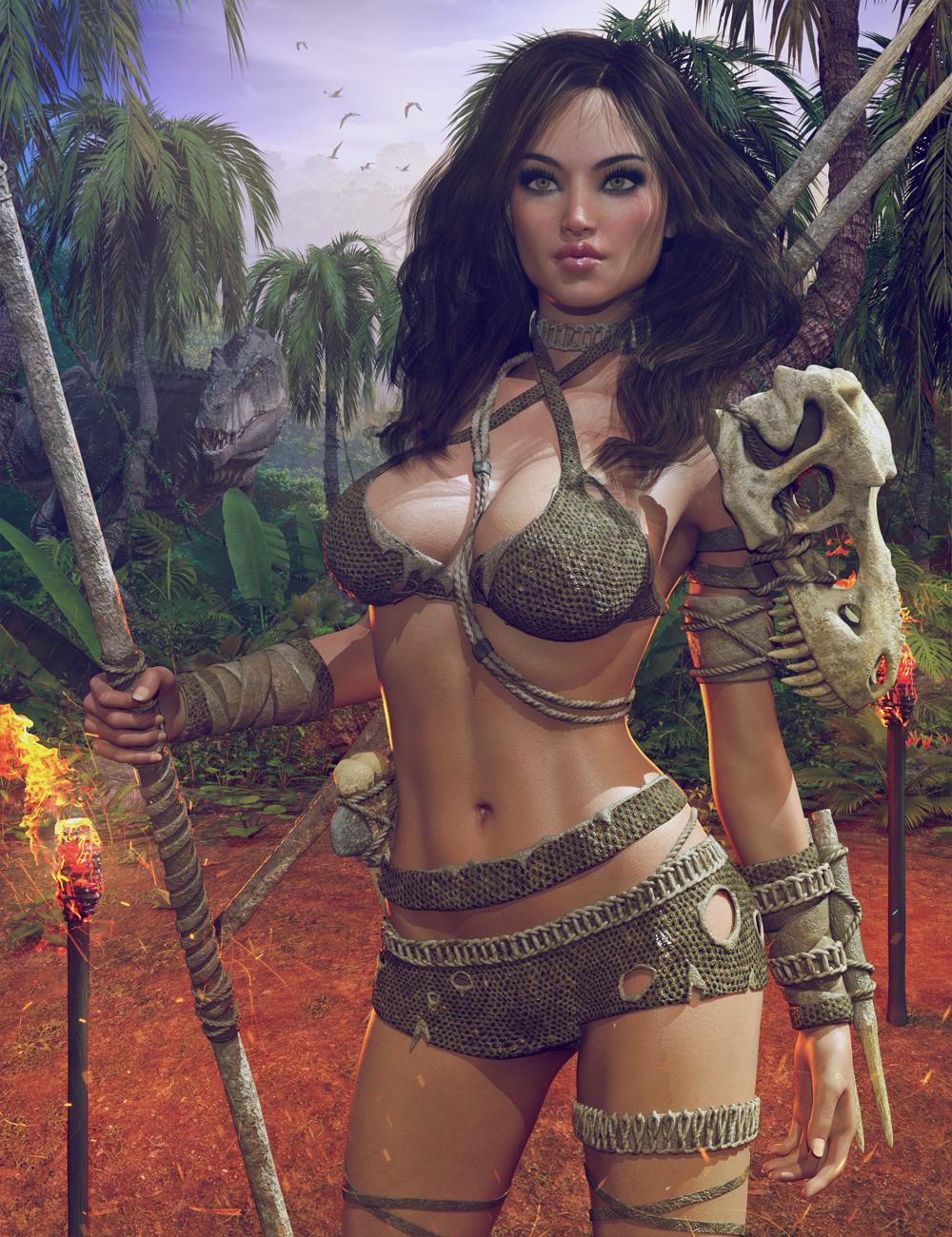 Dinosaur Queen Outfit for Genesis 8 Female(s) by: Herschel Hoffmeyer, 3D Models by Daz 3D