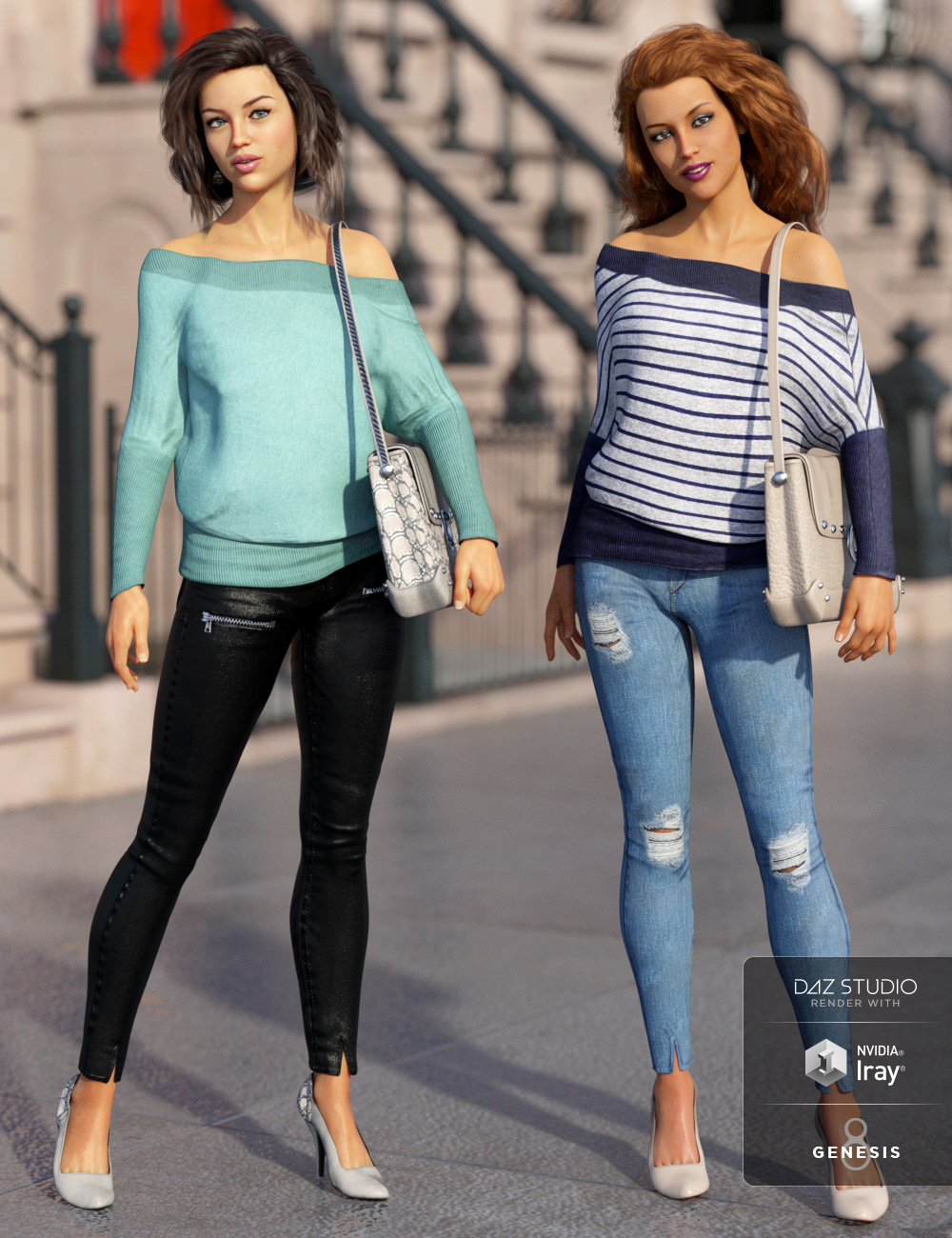 dForce City Limits Outfit Textures by: Luthbellina, 3D Models by Daz 3D
