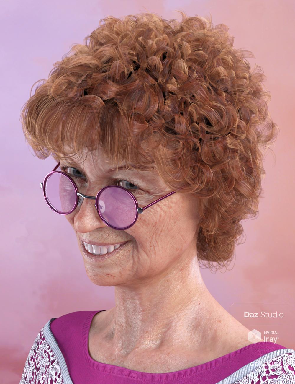 Estelle Hair for Genesis 3 and 8 Female(s) by: goldtassel, 3D Models by Daz 3D