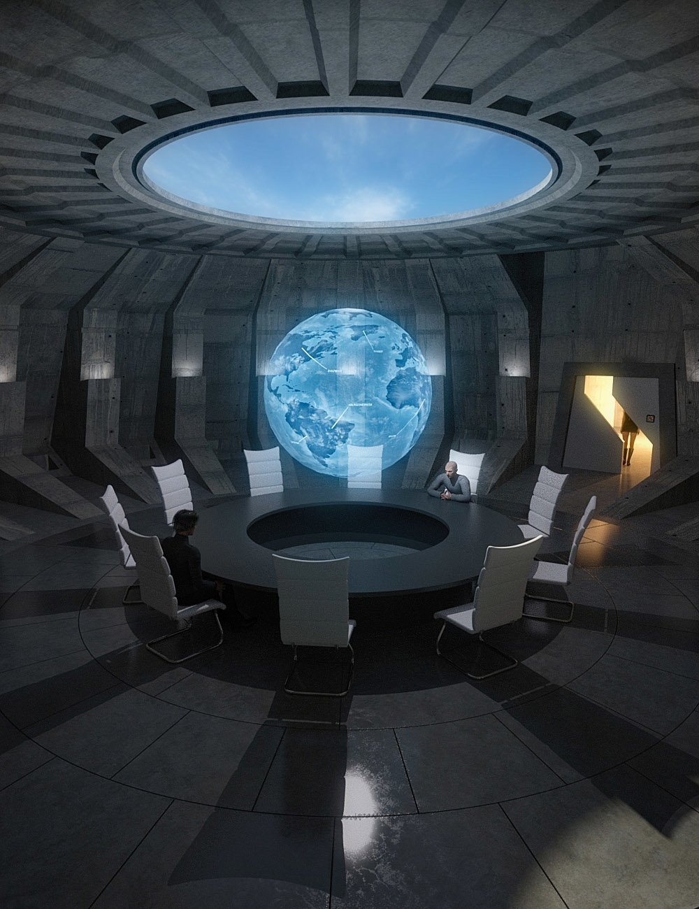 Supervillain Conference Room by: bitwelder, 3D Models by Daz 3D