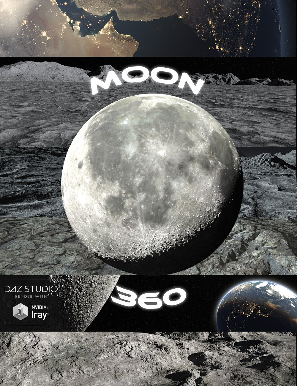 Moon 360 by: midnight_stories, 3D Models by Daz 3D