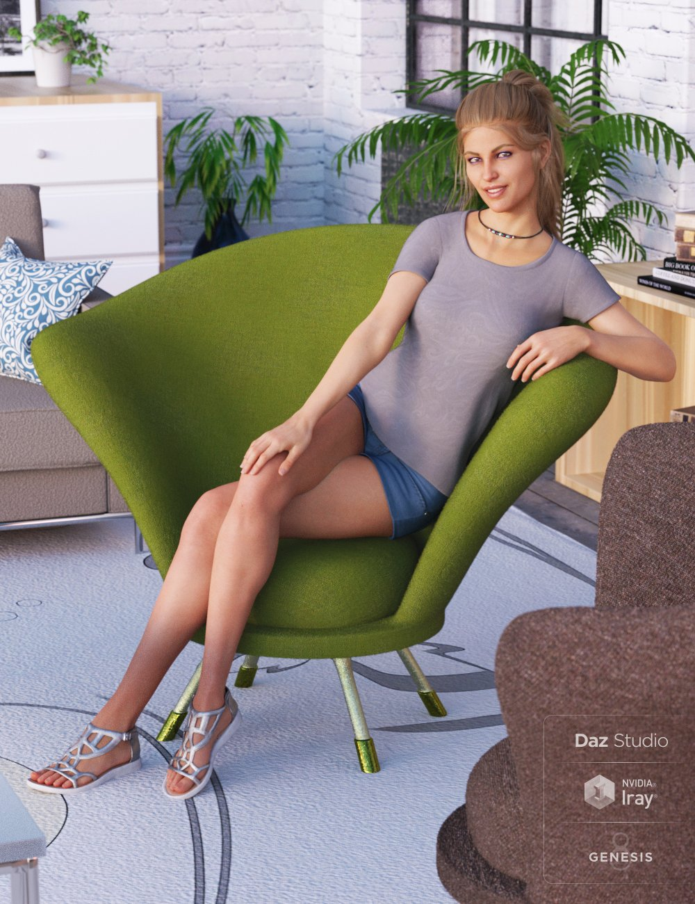 50s Fabulous Morphing Chair by: PoisenedLily, 3D Models by Daz 3D