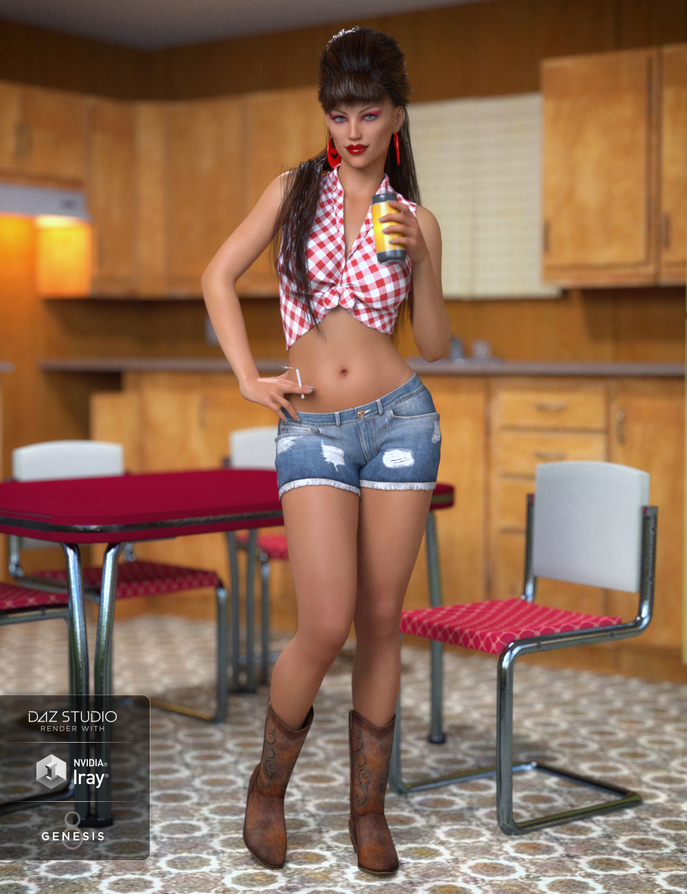 Betty Lou Outfit for Genesis 8 Female(s) by: DirtyFairyNikisatez, 3D Models by Daz 3D
