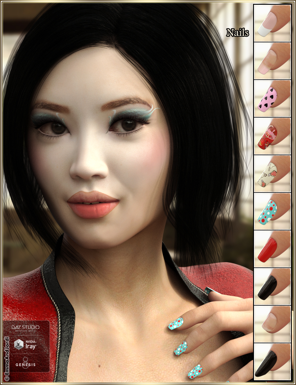EJ Midori for Genesis 8 Female   3D Models and 3D Software