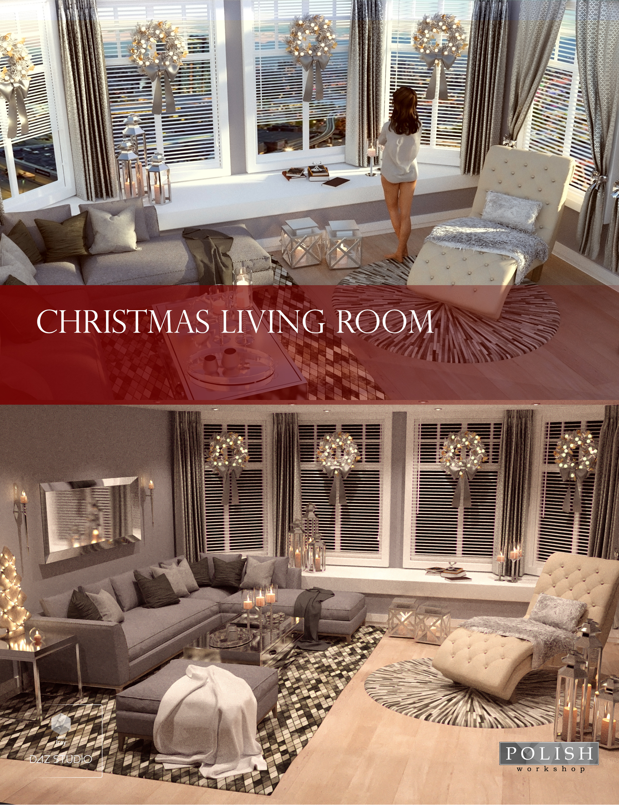 Christmas Living Room by: Polish, 3D Models by Daz 3D