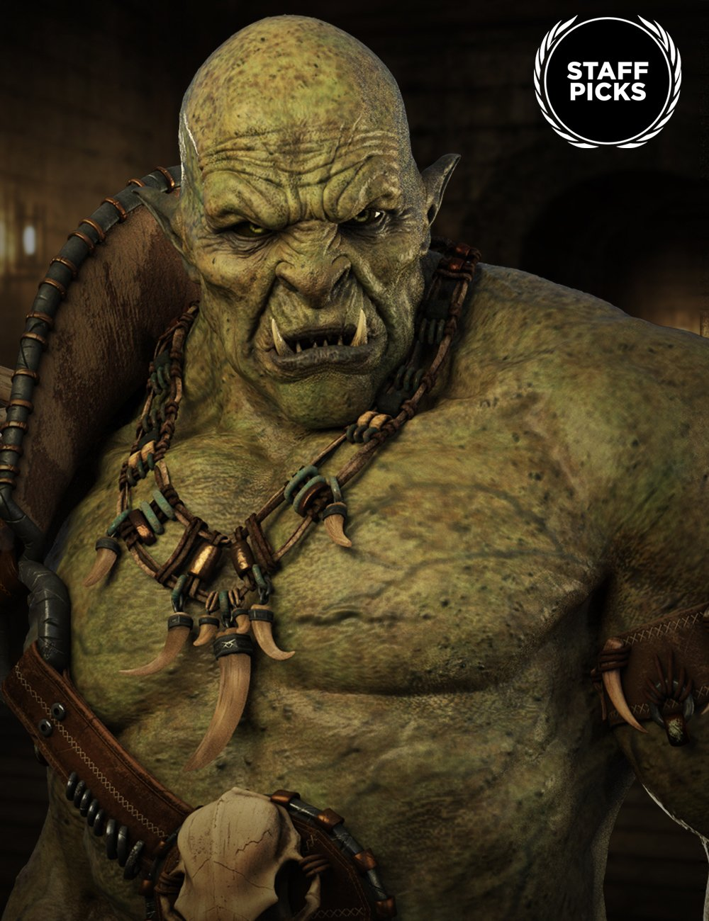 Orc HD for Genesis 8 Male by: , 3D Models by Daz 3D