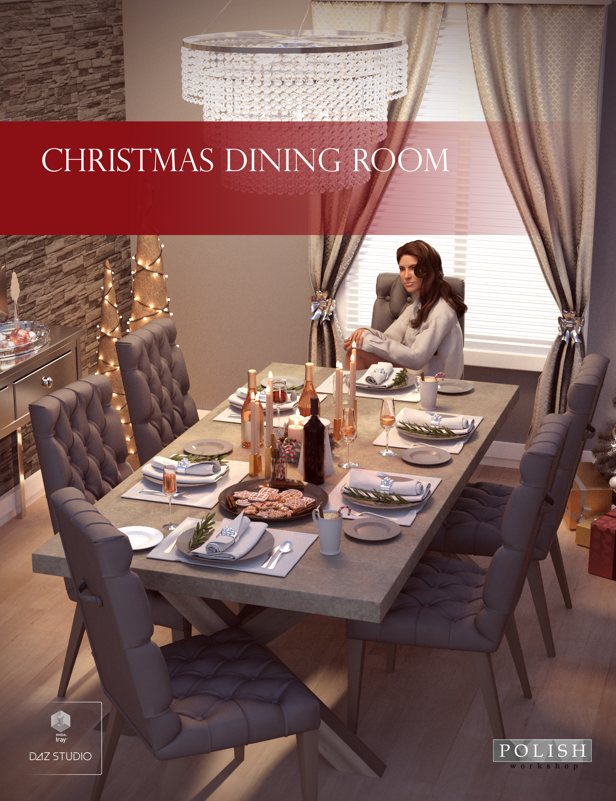 Christmas Dining Room by: Polish, 3D Models by Daz 3D