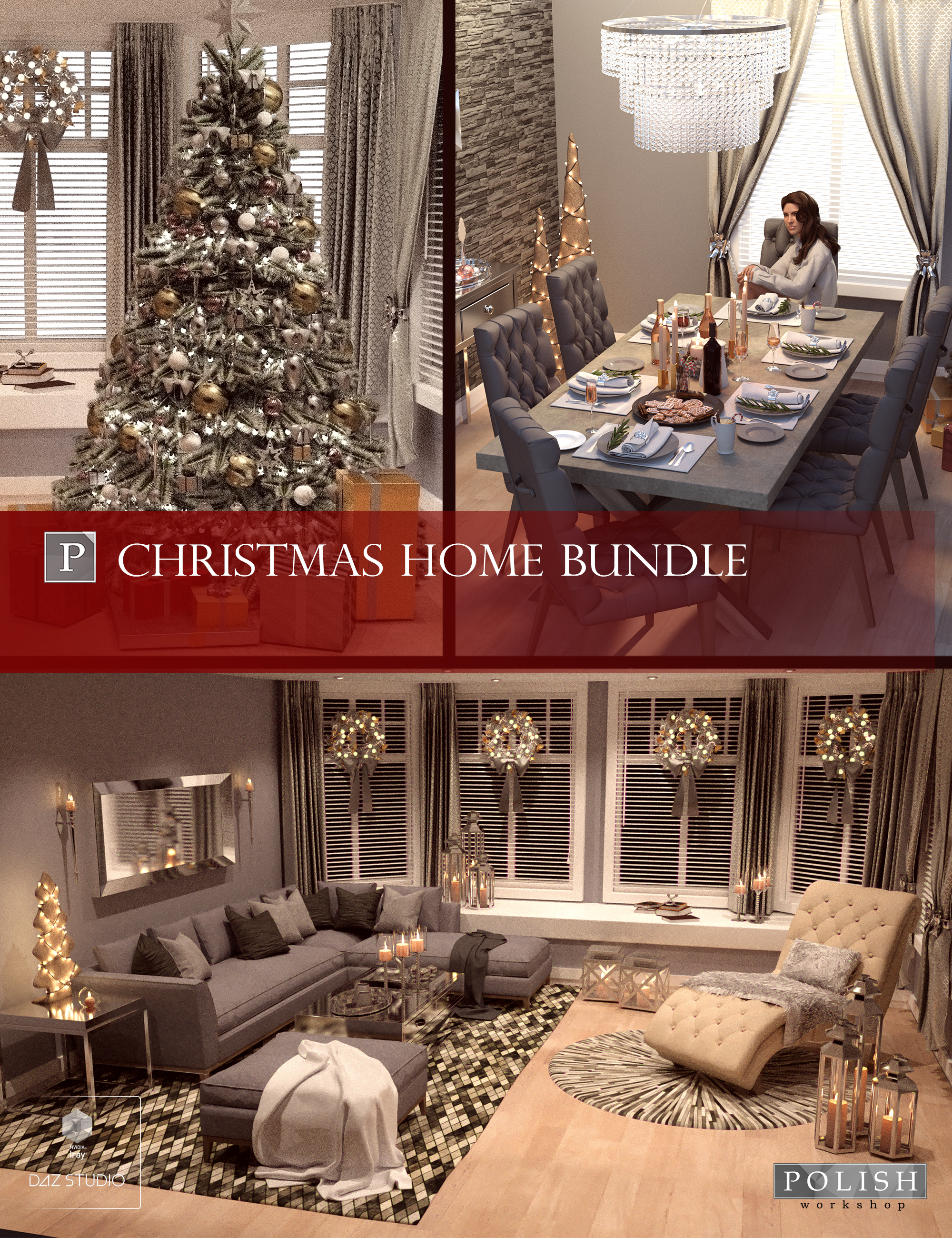 Christmas Home Bundle by: Polish, 3D Models by Daz 3D