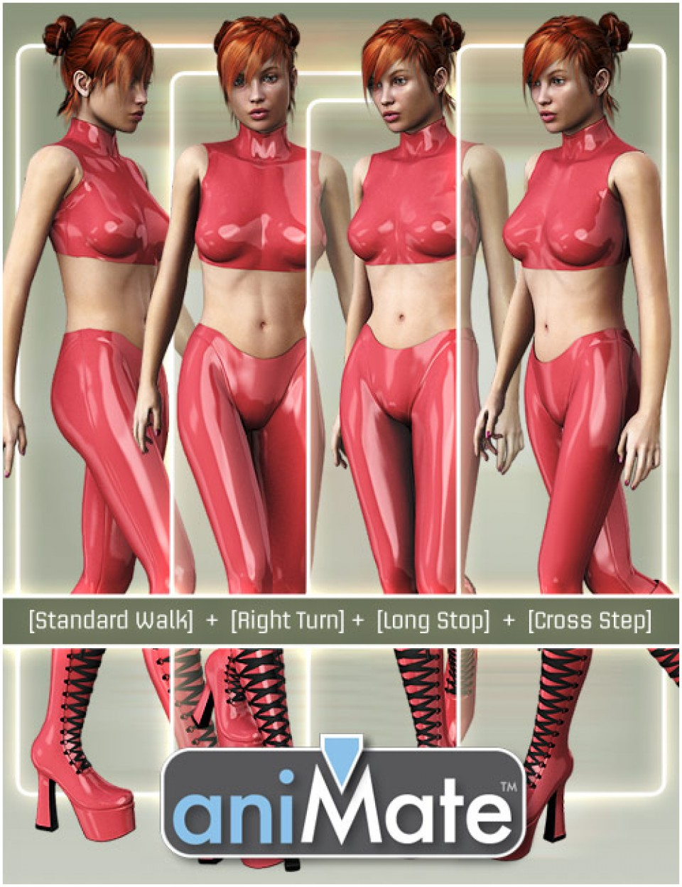 aniMate Walk Construction Kit for Victoria 8 by: GoFigure, 3D Models by Daz 3D