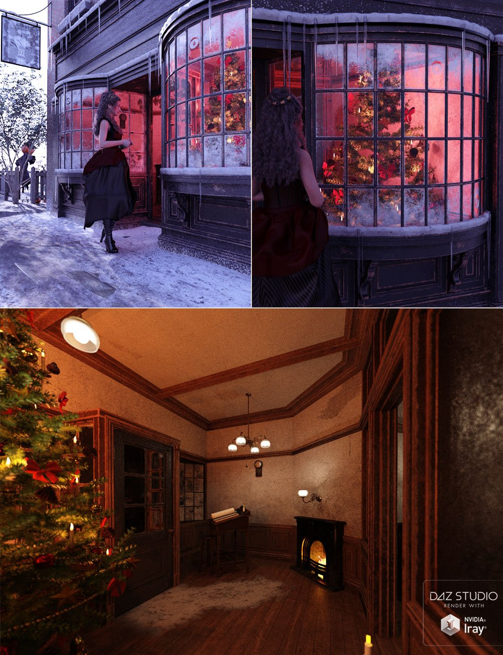 Counting House Let it Snow by: ForbiddenWhispersDavid Brinnen, 3D Models by Daz 3D
