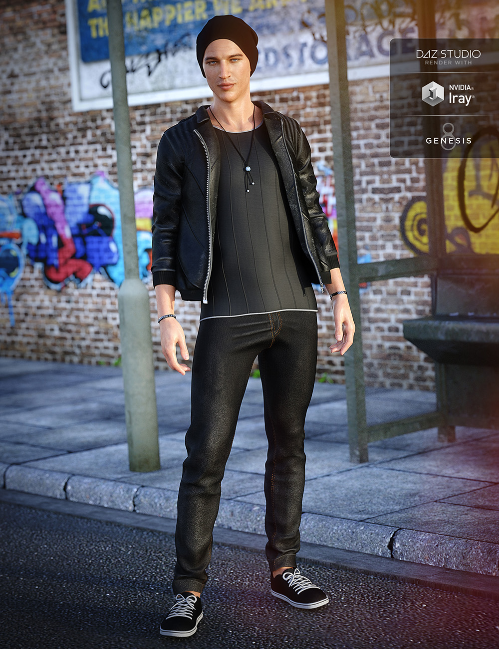 Alt Style Outfit for Genesis 8 Male(s) by: Mely3DNikisatez, 3D Models by Daz 3D