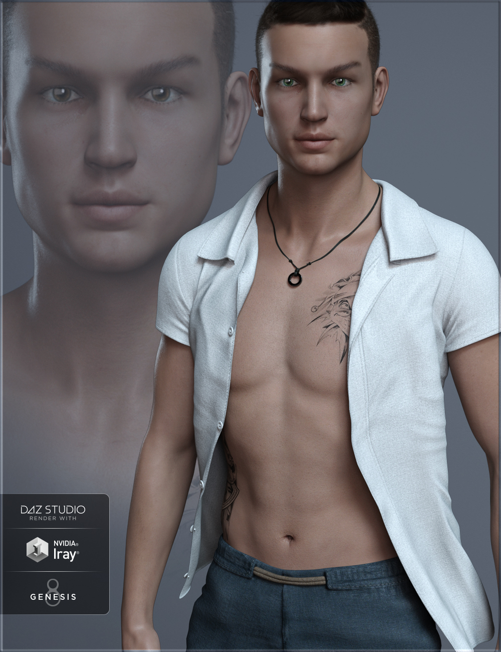 FW Kasper HD for Owen 8 by: Fred Winkler Art, 3D Models by Daz 3D