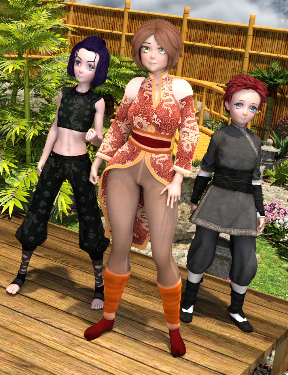 FSL Mix and Match Shapes for Sakura 8 by: Fuseling, 3D Models by Daz 3D