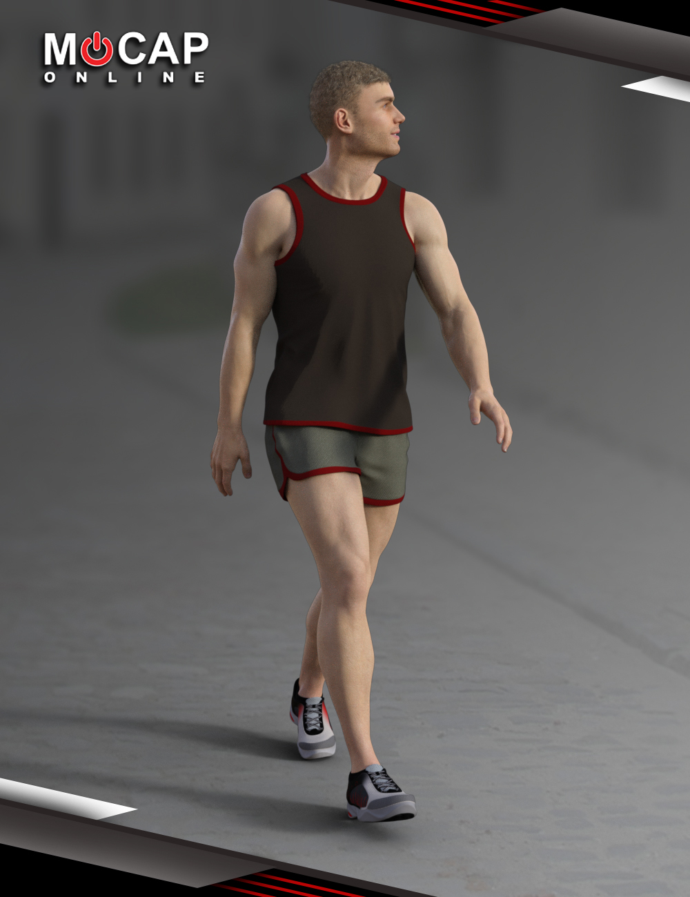 Walks Animation Collection - Michael 8 by: Mocap Online, 3D Models by Daz 3D