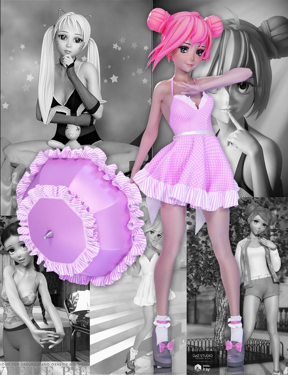 Sakura 8 Starter Bundle by: , 3D Models by Daz 3D