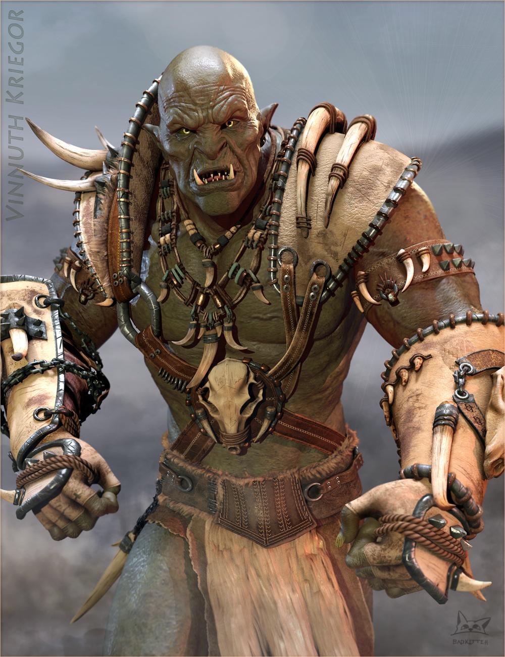 Vinnuth Kriegor Battle Mega Armor for Genesis 8 Male(s) by: BadKitteh Co, 3D Models by Daz 3D