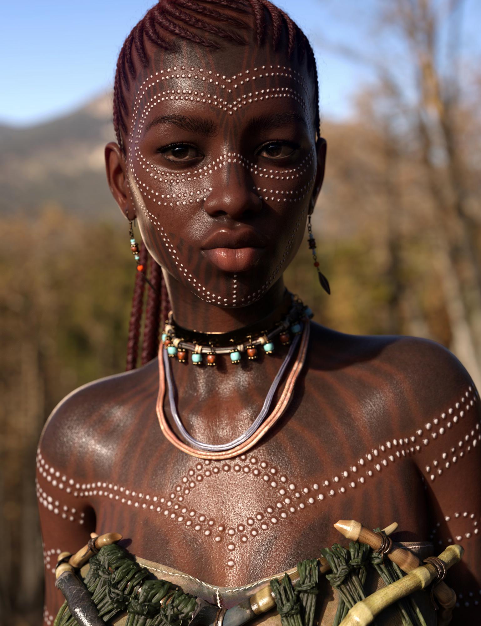 Uchenna for Genesis 8 Female by: Saiyaness, 3D Models by Daz 3D