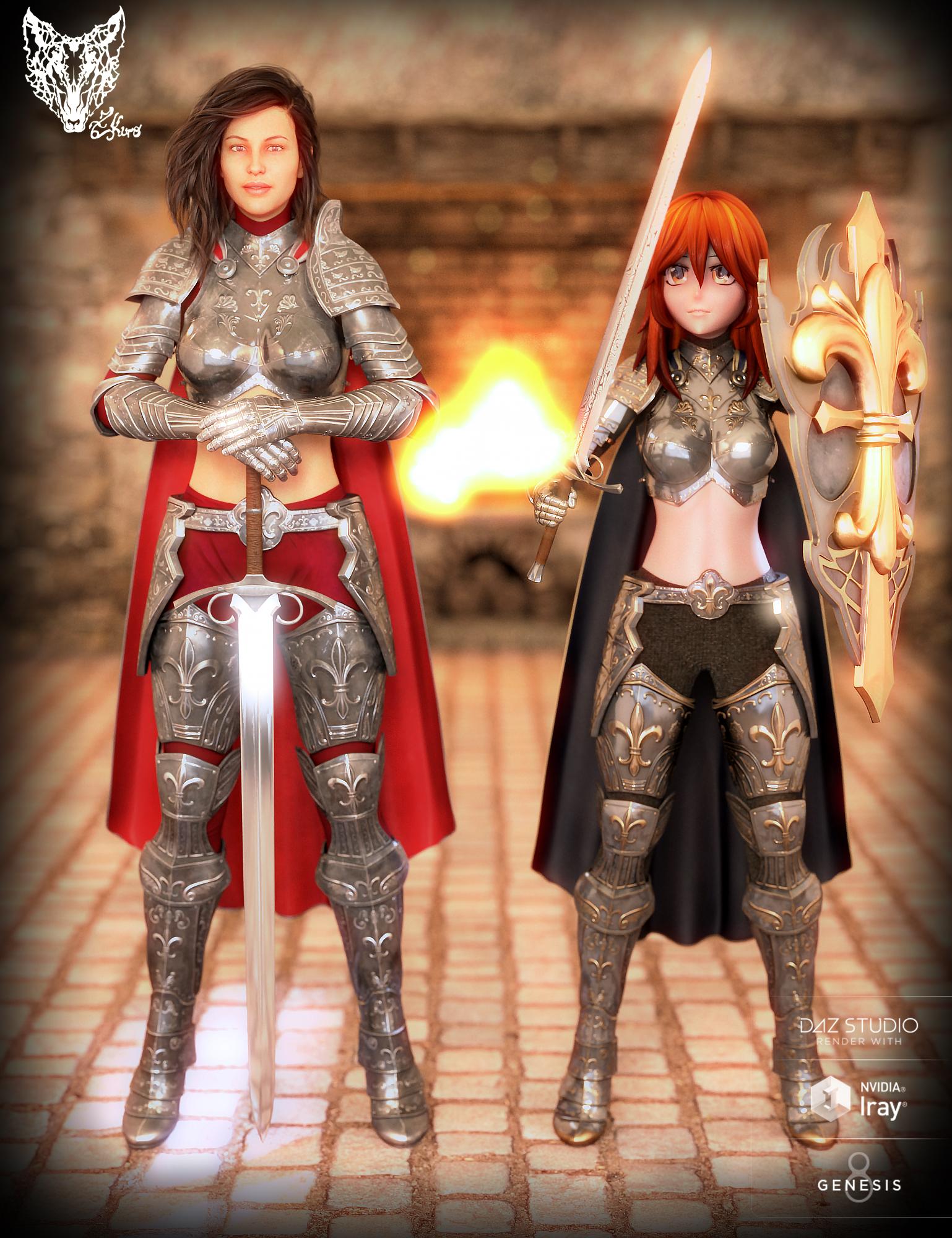 Orlean's Armor for Genesis 8 Female(s) by: ZKuro, 3D Models by Daz 3D
