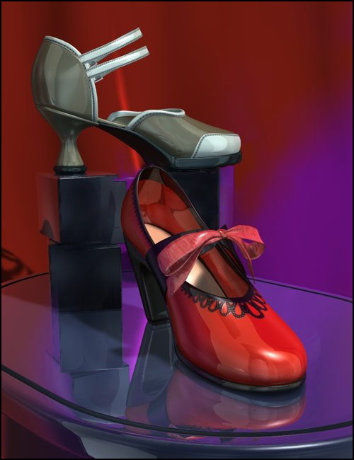 V4 Cuban-Diabolo Shoe Pack by: , 3D Models by Daz 3D