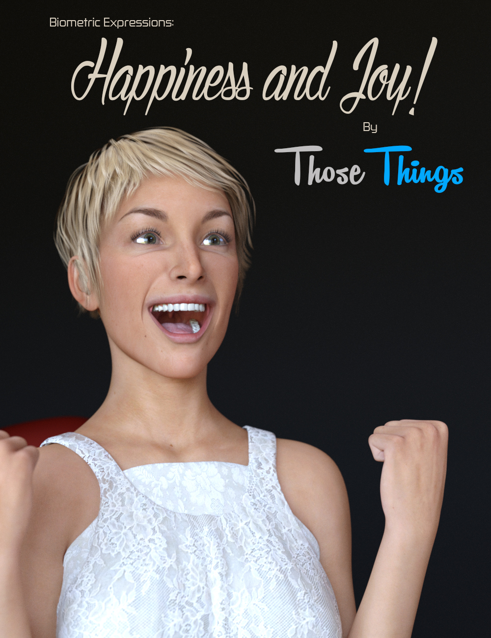 Biometric Expressions: Happiness and Joy! for Genesis 3 Female(s) by: Those Things, 3D Models by Daz 3D