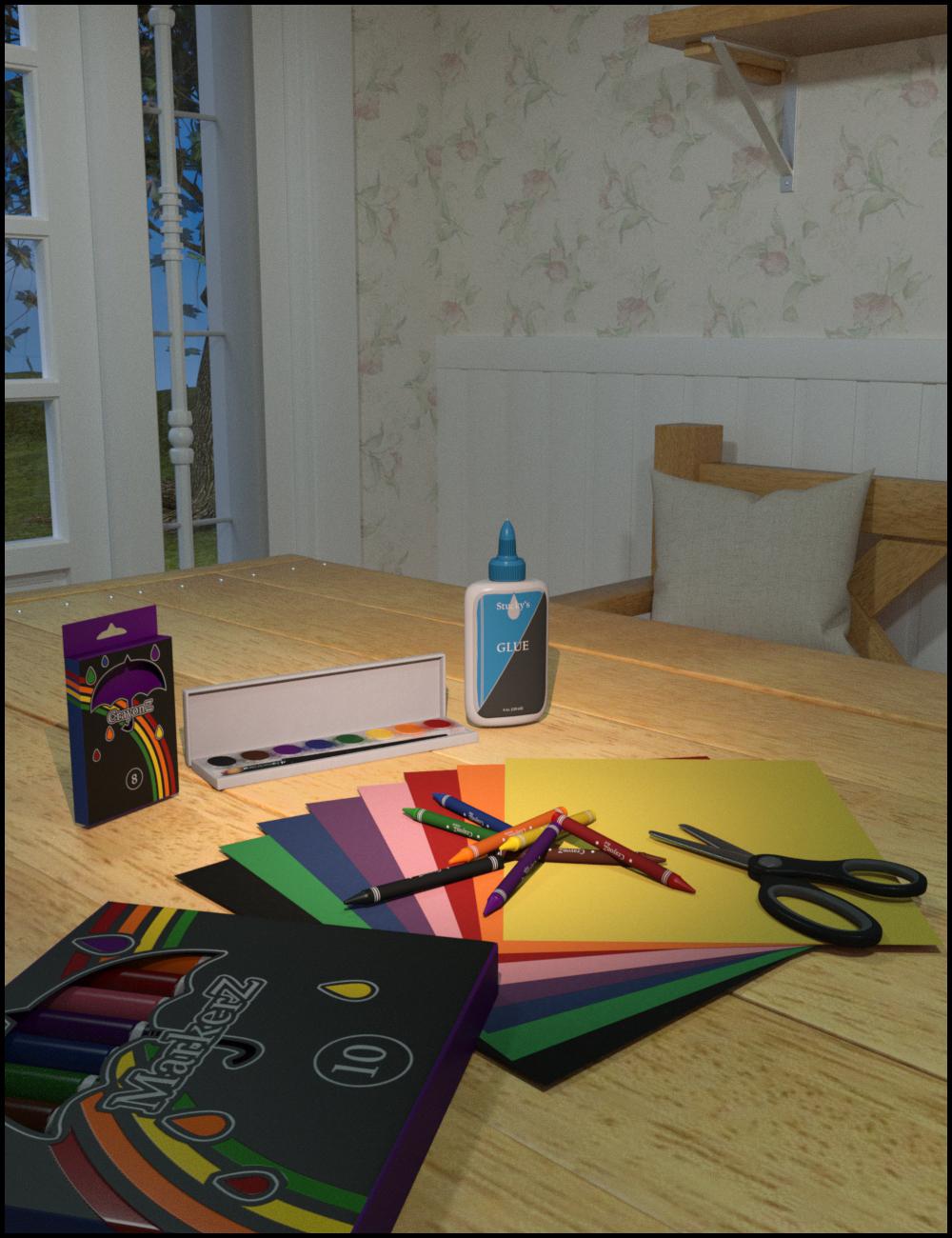 School Craft Supplies by: ARTCollab, 3D Models by Daz 3D