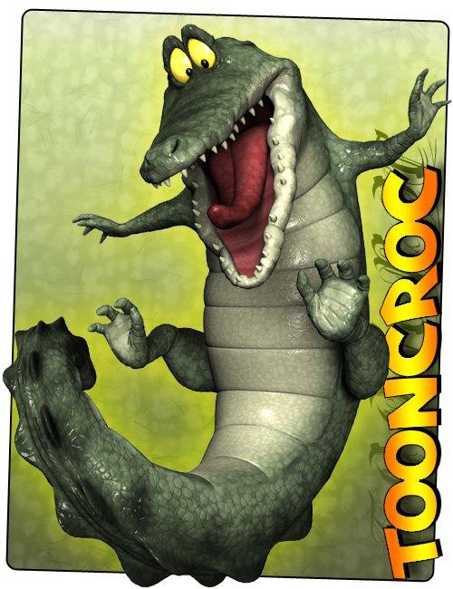 3D Universe - Toon Croc by: 3D Universe, 3D Models by Daz 3D