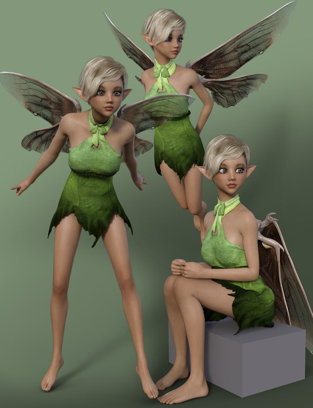 Classic Fairy Attitude Poses for Karyssa 8 by: Quixotry, 3D Models by Daz 3D