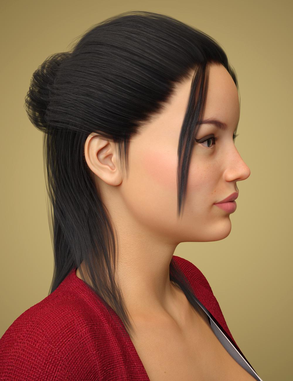 Tasha Hair for Genesis 8 Female(s) by: Toyen, 3D Models by Daz 3D