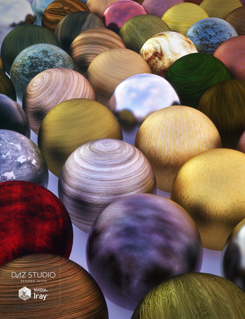 Satiny Wood Iray Shaders by: JGreenlees, 3D Models by Daz 3D