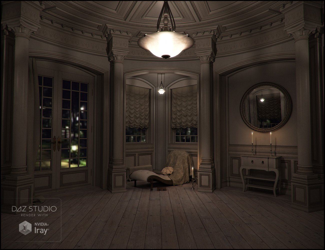 Rural Chateau III by: Jack Tomalin, 3D Models by Daz 3D
