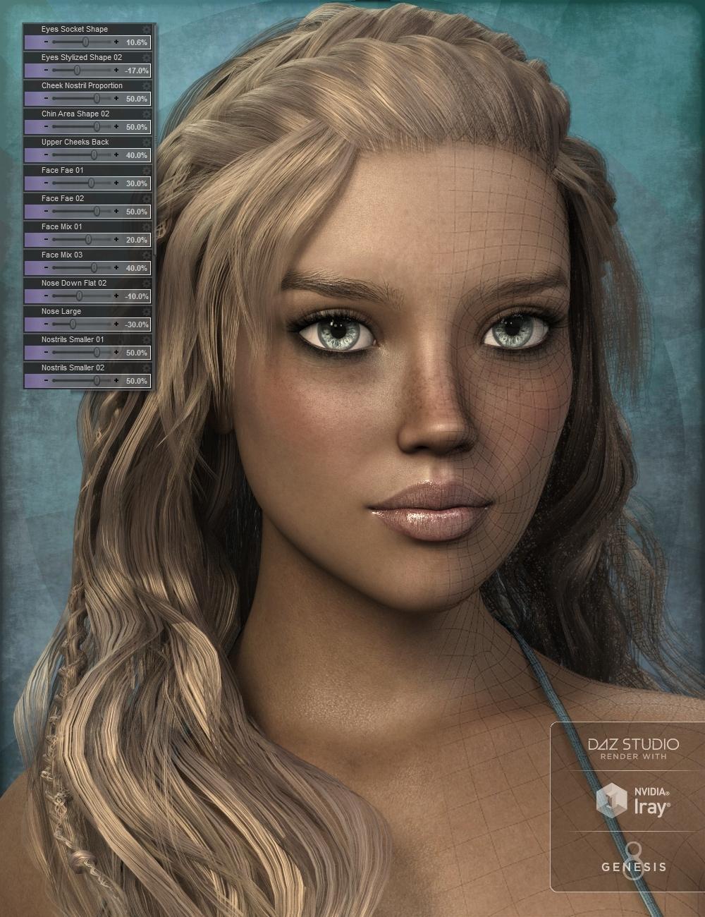 Genesis 8 Female Head Morph Resource Kit 3 by: ThorneHandspan Studios, 3D Models by Daz 3D