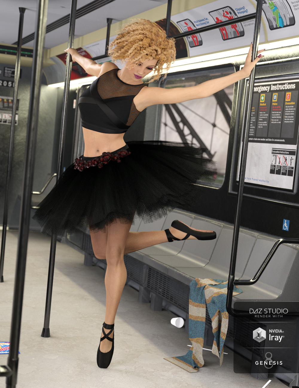 dForce Urban Ballerina for Genesis Female(s) by: Anna BenjaminMada, 3D Models by Daz 3D