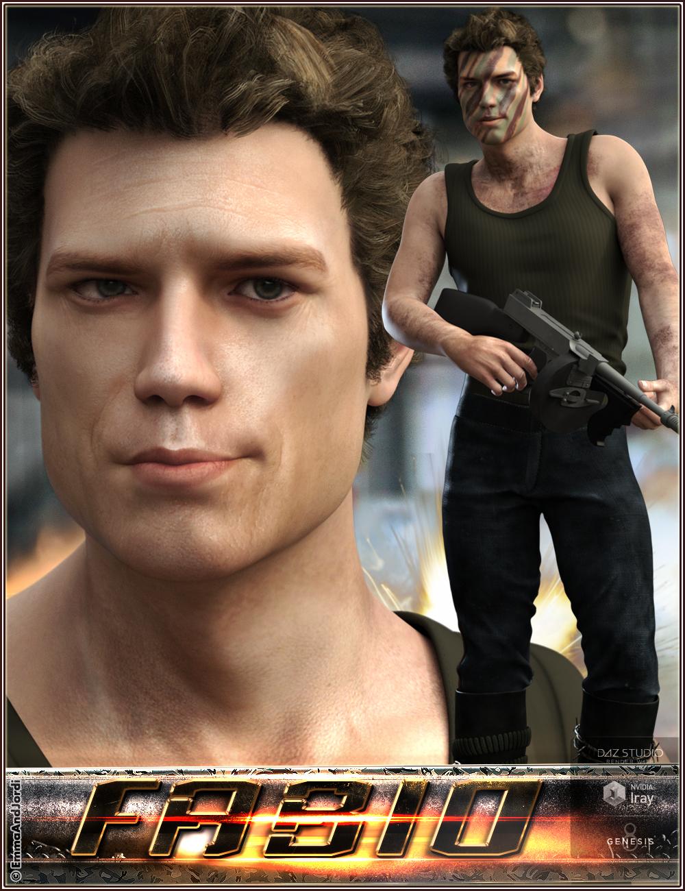 EJ Fabio for Genesis 8 Male by: EmmaAndJordi, 3D Models by Daz 3D