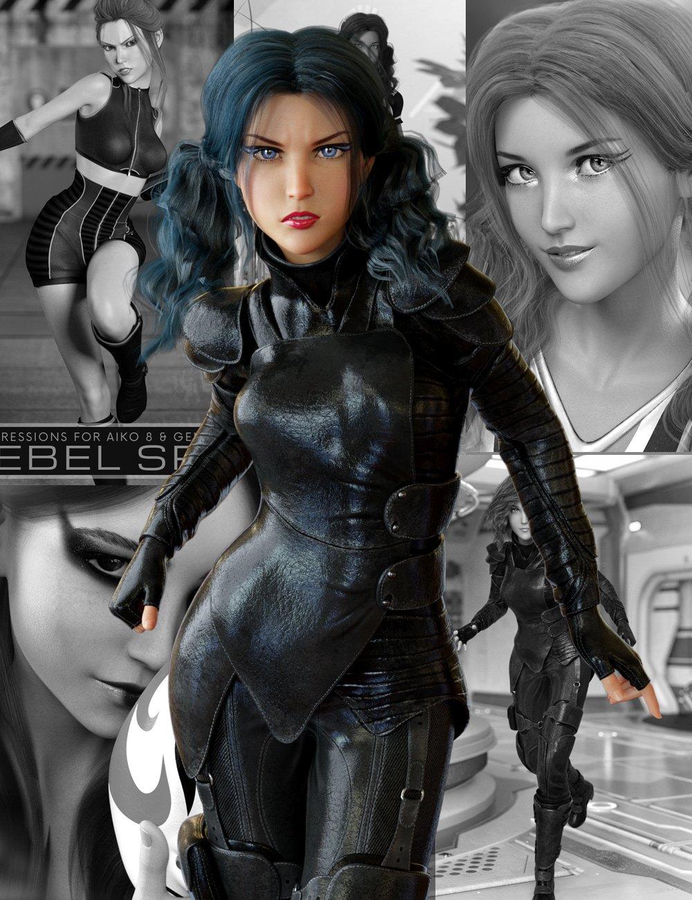 Aiko 8 Pro Bundle by: , 3D Models by Daz 3D
