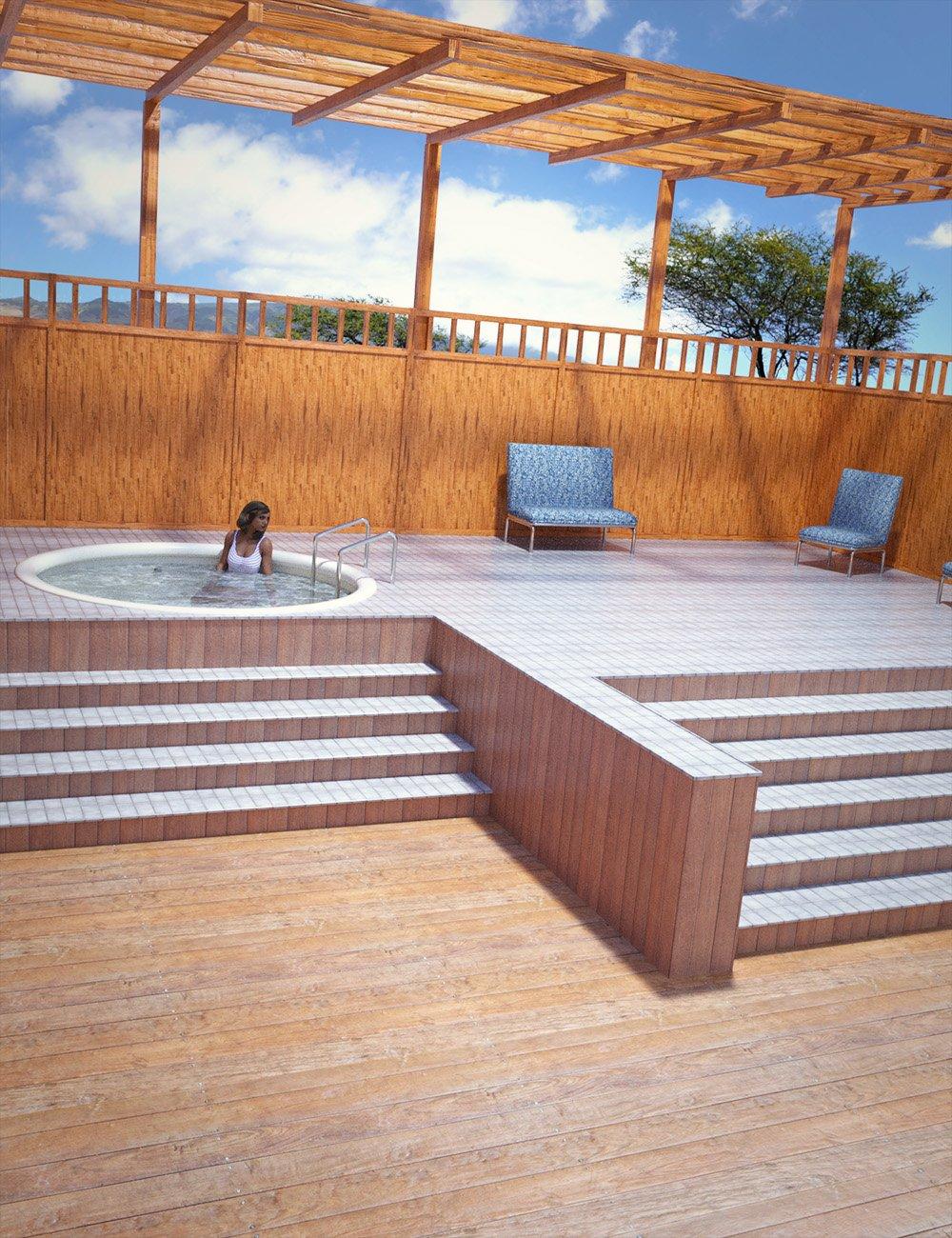 Jacuzzi Deck by: , 3D Models by Daz 3D