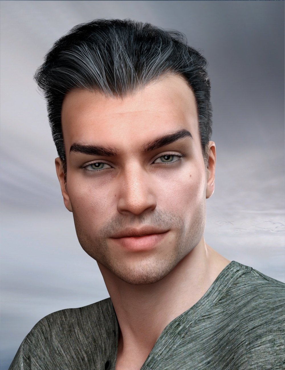 Commander Hair for Genesis 3 and 8 Male(s) by: RedzStudio, 3D Models by Daz 3D