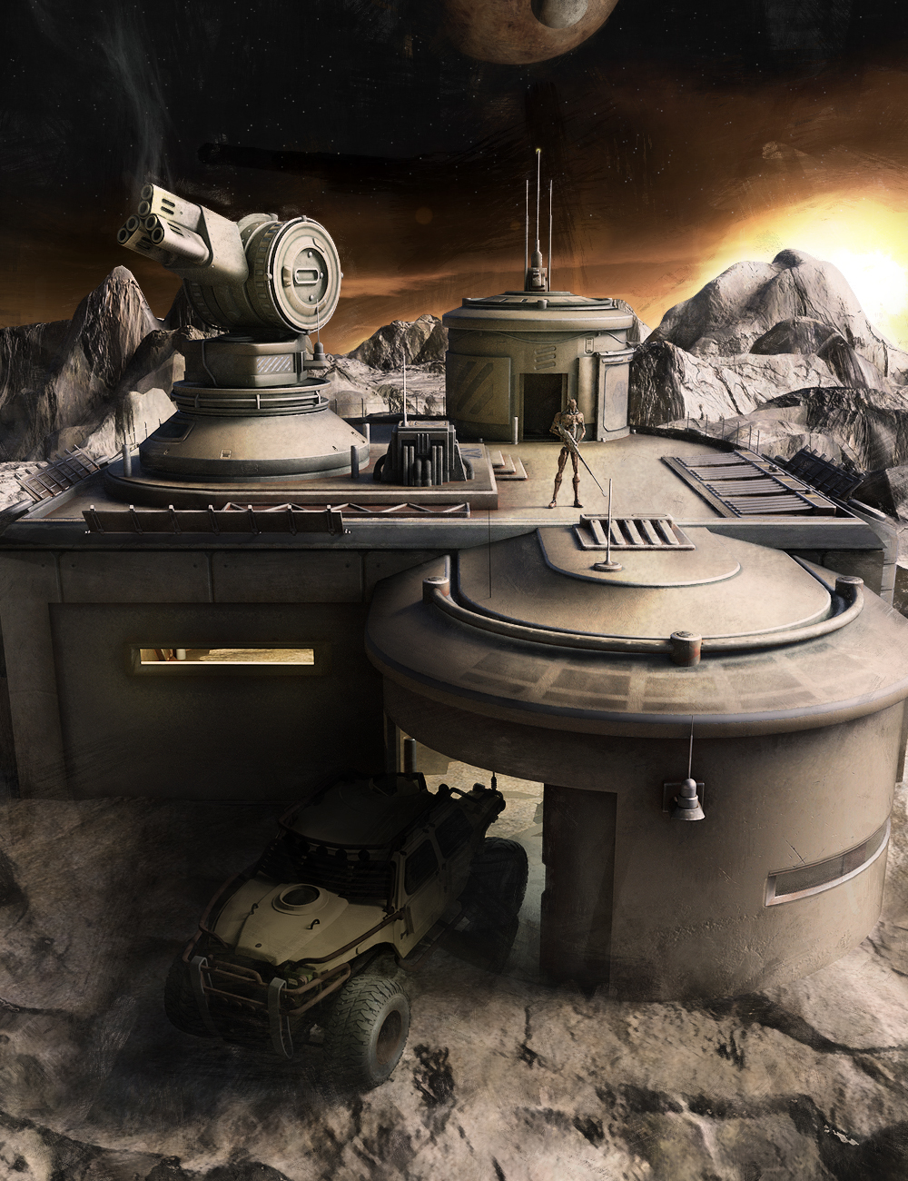 Gunnery OutPost by: The AntFarm, 3D Models by Daz 3D