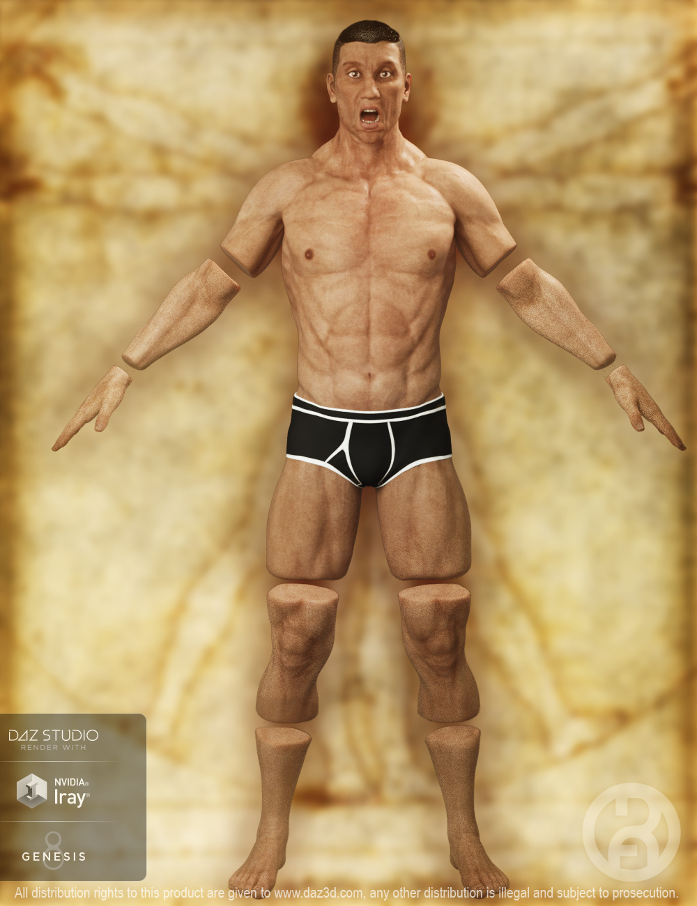 Severed Man for Genesis 8 Male(s) by: RawArt, 3D Models by Daz 3D