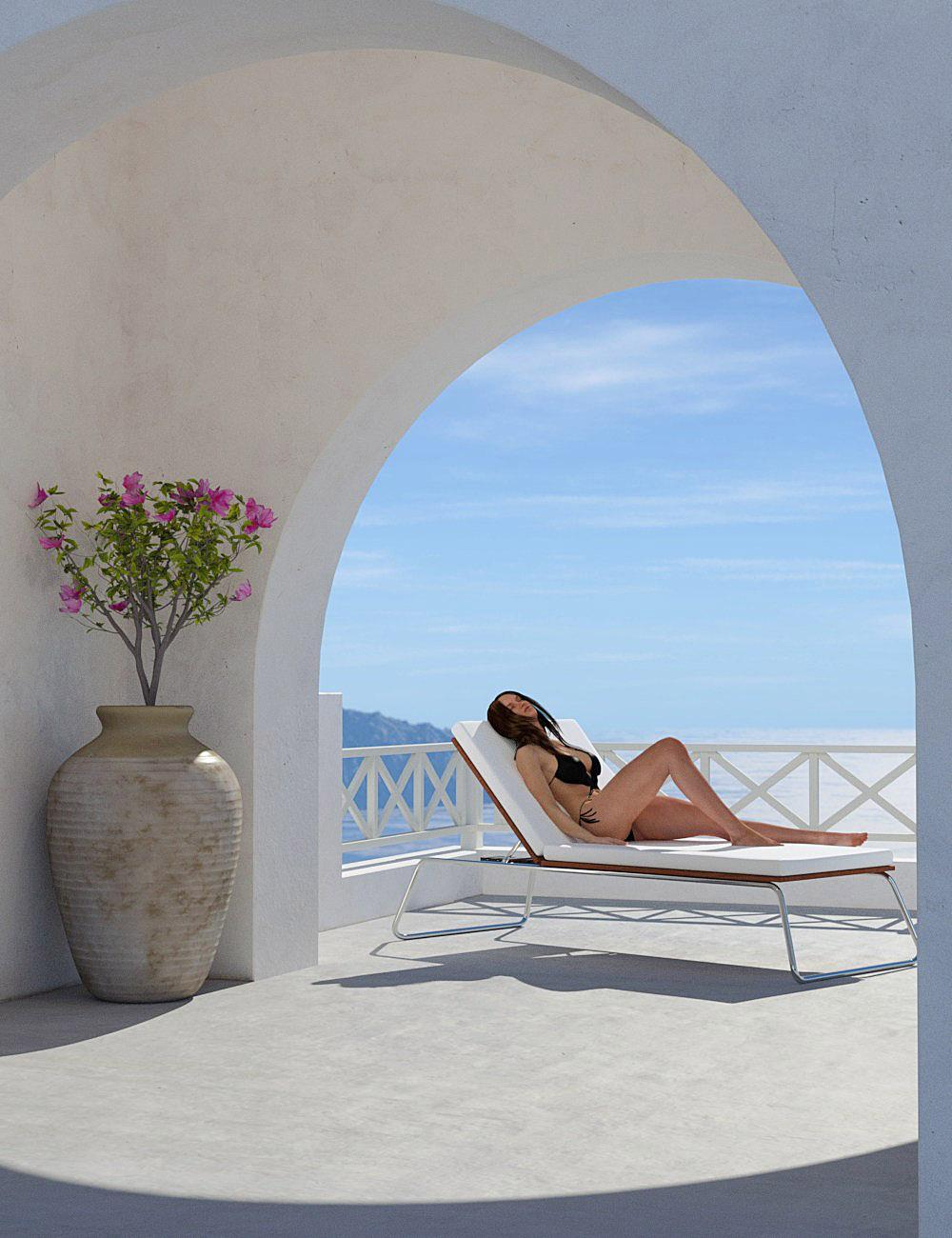 Greek Island Overlook by: bitwelder, 3D Models by Daz 3D