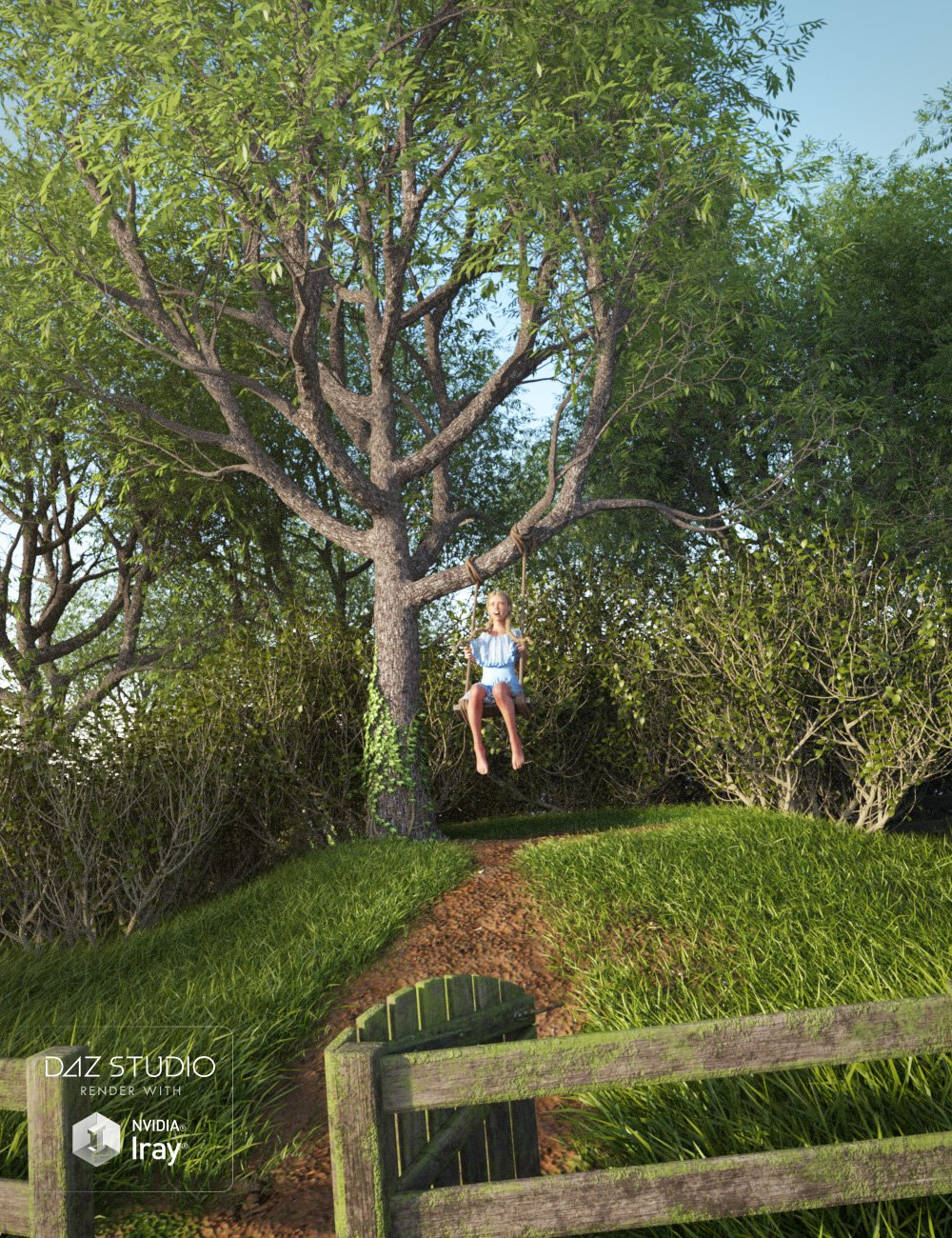 Tree And Swing by: Predatron, 3D Models by Daz 3D